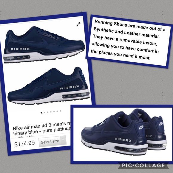 Zapatos Nike Athletic Hombres Airmax Ltd 3 Athletic Nike Como Nueva Poshmark c6487f